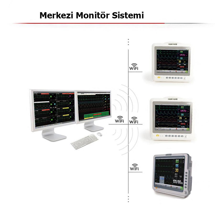 SeaMed Merkezi Monitör Sistemi
